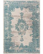 Vloerkleed Antique Beige/Turkoois